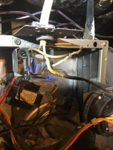 heating repair Fort Worth AC and Heat Burnt Power Supply Wiring at Furnace